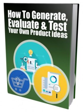 """<span itemprop=""""name"""">Generate, Evaluate & Test Your Own Product Ideas PLR eBook</span>"""